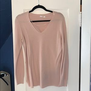 The GAP V Neck Pale Pink Sweater